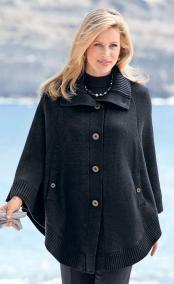 veste-cape PLACIDE - Gilet pour femme, cardigan, blazer, veste grande taille - Afibel