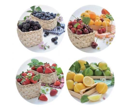 Mic dejun cu fructe si cereale... Va asteptam cu cesti,farfurii,tavi decorate cu fructe.Sunt ambalate in cutii cadou. http://www.casa-alessia.ro/masa/farfurii