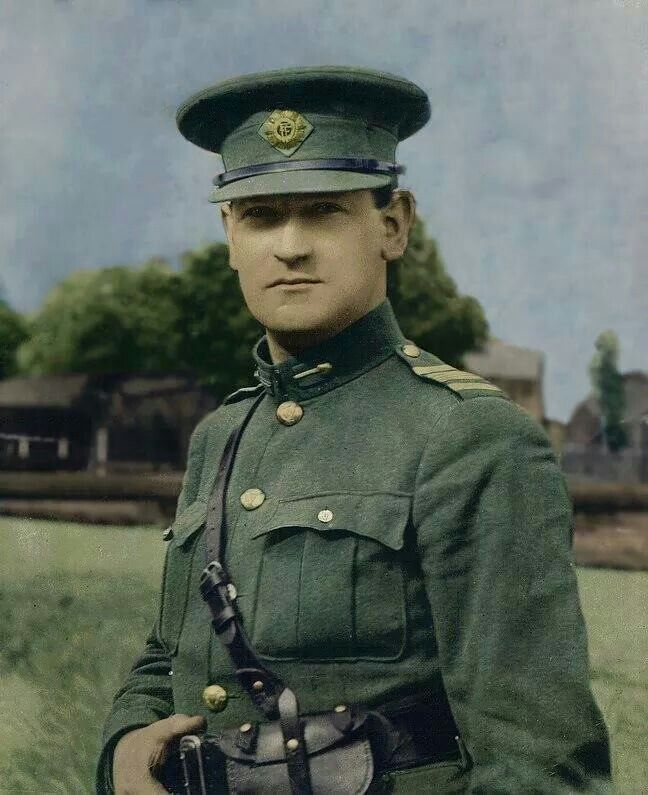 Michael Collins Someone's done a marvellous job colourizing this well-known portrait from 1922
