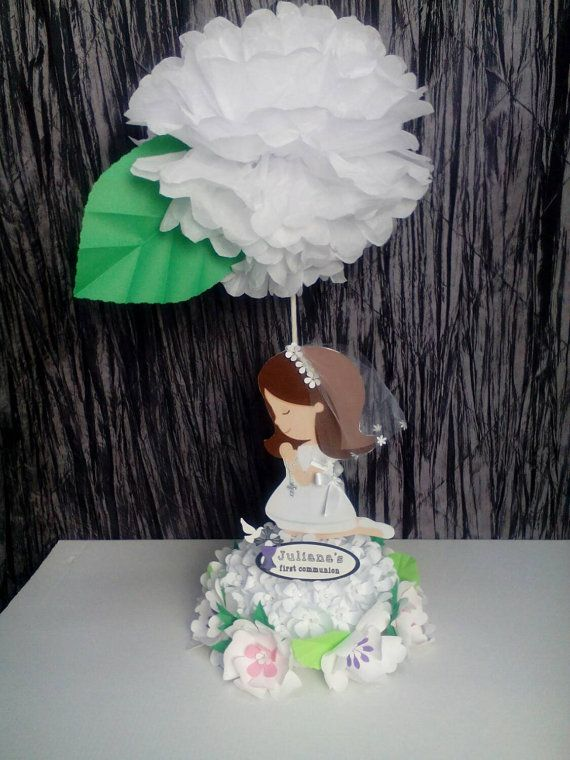 First communion centerpiecegirls communion by UniqueandGlitzy