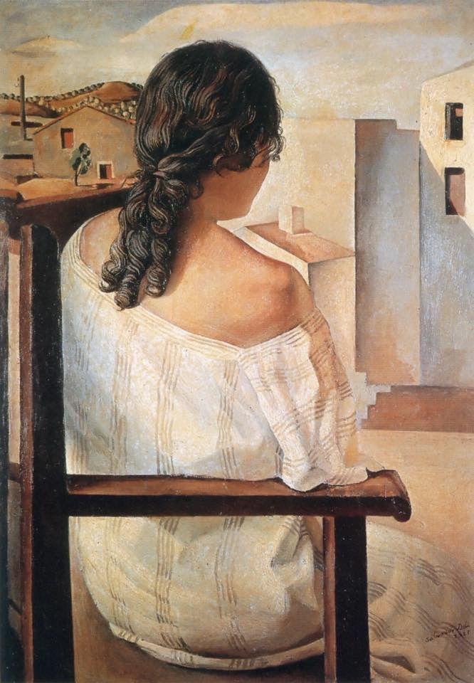 Salvador Dalí -Girl from the back ,1925