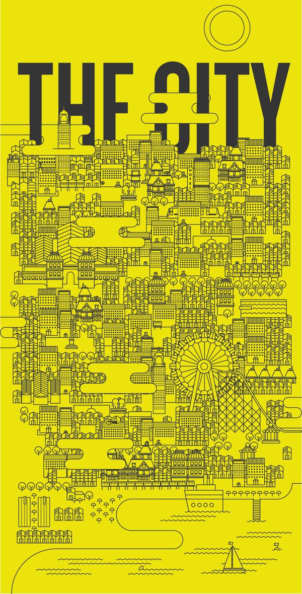 THE CITY by matteo franco, via Behance