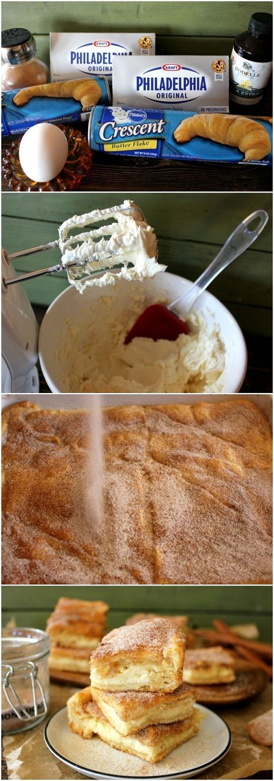 Churro Cheesecake recipe with pillsbury rolls.