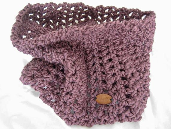 Infinity Scarf Cowl Crochet Wine - Cosy by GG - Laugh or Cry