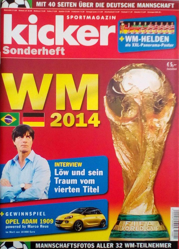 KICKER!SONDERHEFT  WM 2014!NEU!!