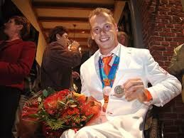 Bas van Erp (2 July 1979 – 3 April 2016) was a Dutch wheelchair tennis player. He won two bronze medals at the 2004 Paralympic Games. After the 2004 Games he was about to stop playing wheelchair tennis, because he became very ill. When he recovered he decided to reach the Paralympic Games one more time. He competed at the 2008 Summer Paralympics,