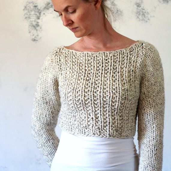 Crop Top Sweater Knitting Pattern  instruction on how to knit