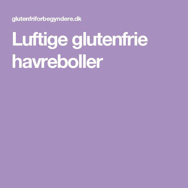 Luftige glutenfrie havreboller