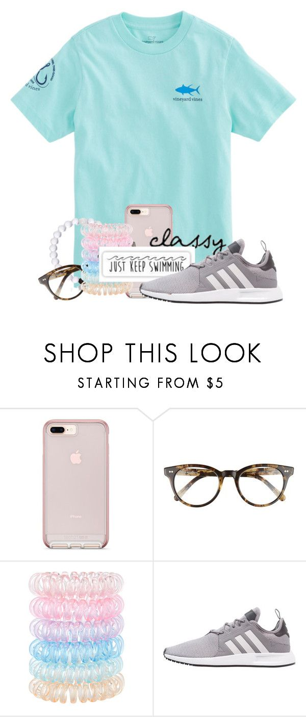 """What is y'all's fav sports team"" by ellisonharris ❤ liked on Polyvore featuring Vineyard Vines, Corinne McCormack, Accessorize, Patagonia and adidas Originals"
