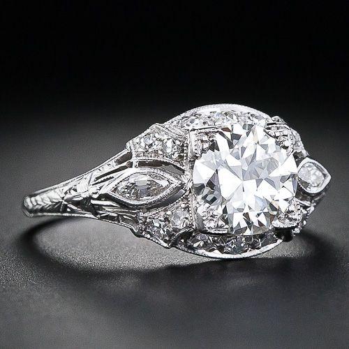 1.20 Carat Diamond Art Deco Engagement Ring - circa 1930