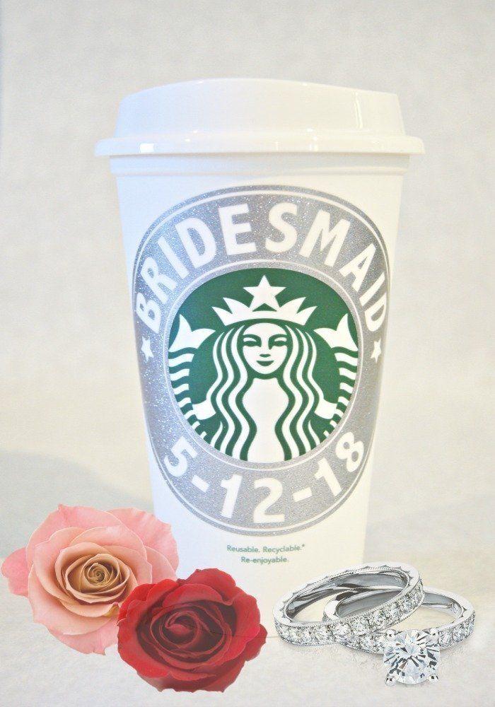 Starbucks Cup, Bridesmaid Gift, Starbucks Personalized Coffee Cup, Bridesmaid Starbucks Cup, Reusable Coffee Mug, Personalized Coffee Mug, Reusable Coffee Cup, Personalized Coffee Cup