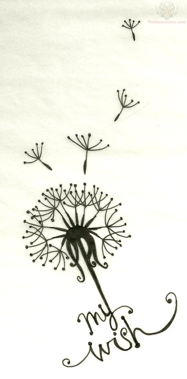 dandelion tattoo.....Wish                                  and                                     Let it Go