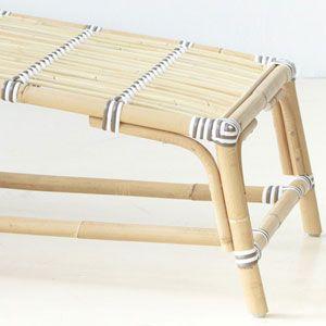 Chaise longue/bain de soleil en rotin Jos�phine Sika Design