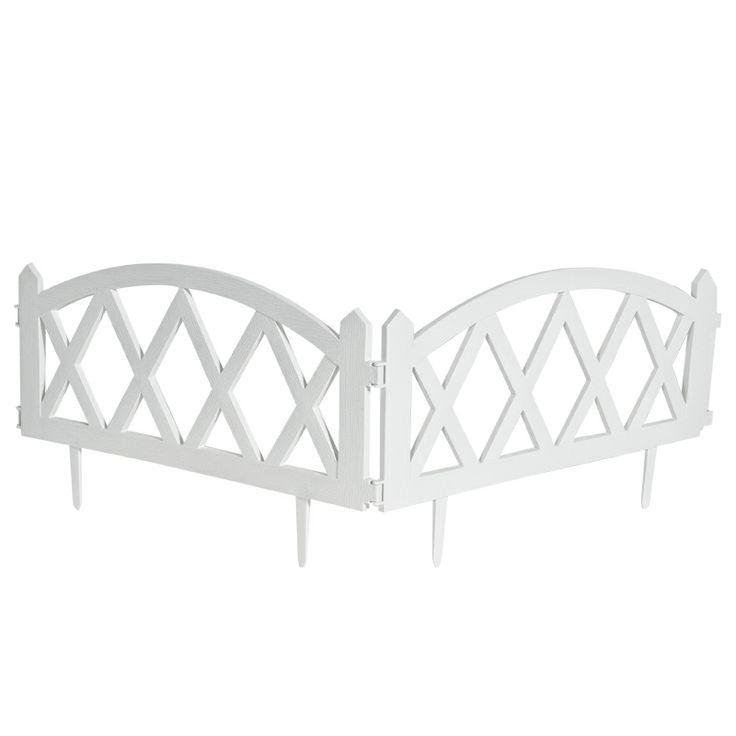 www.sconticasa.it  Recinzione curva in polipropilene composto da 2 pezzi con snodo centrale  Colore Bianco