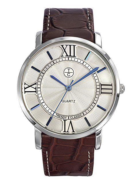 Trendy Classic-CC-1031-03 hombre-Reloj cuarzo, analógico, correa de cuero, color marrón
