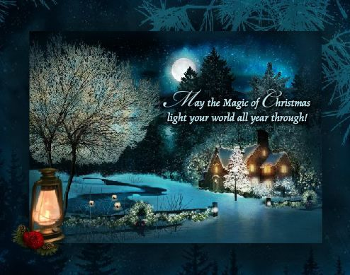 A Touch of Christmas Magic - Interactive Fairy Christmas Card Everywhere you look there's a touch of Christmas magic... May the magic of Christmas light your world all year through!