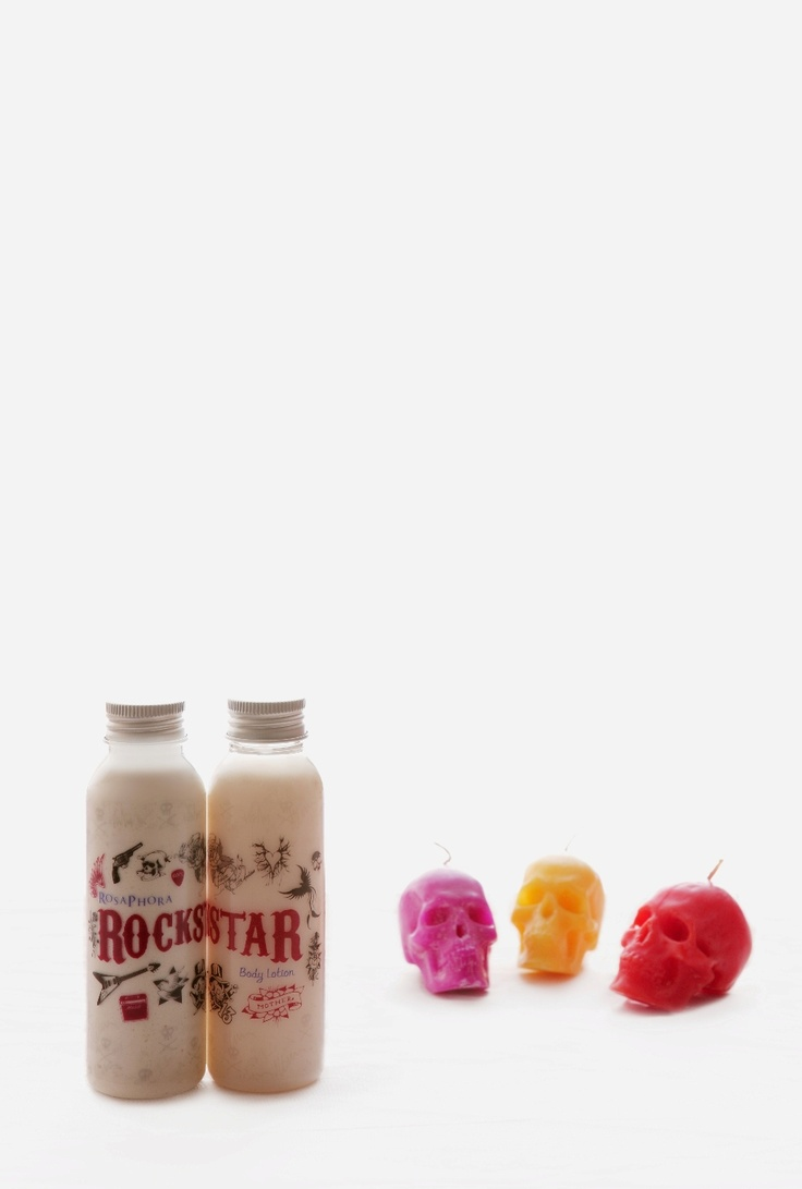 Body Scrub & Body Lotion.  Rockstar, alluring & foxy scent.   What is more alluring than a combination of sweet raspberry with a hint of spices like pink pepper and patchouli. Drawn them in your sexy and spicy persona, be the real Rockstar!