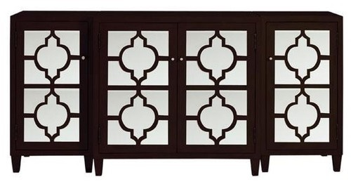Reflections Mirrored 3-Piece Cabinet traditional buffets and sideboards