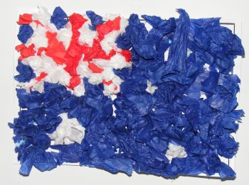 Make Australian day flag. We used to make these all the time at school.