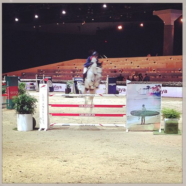 Michael Whitaker at the LA Masters Grand Slam of Show Jumping