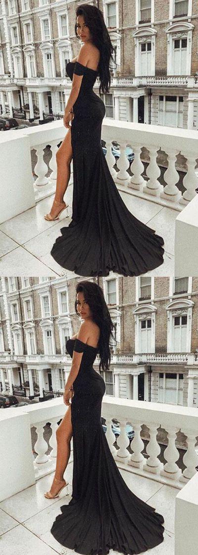 mermaid black long prom/evening dress #prom #promdress #promdresses #eveningdress #eveningdresses