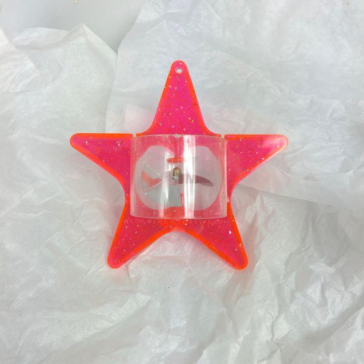 Vintage Christmas ornament spinner twinkler mid century Star orange pink Tinkle…