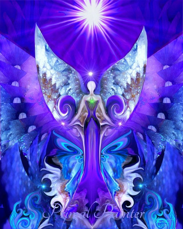 Third Eye Open is purple sixth chakra angel art print in my reiki healing line of chakra wall decor. This angel art print would be an uplifting and healing wall decoration in a meditation room, yoga studio, reiki healing room, spa, massage therapy...