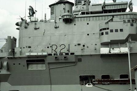 HMAS Melbourne in Hobart  1963