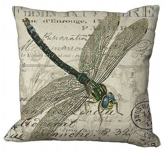 Dragonfly 20x20 or 18x18 or 16x16 or 14x14 Inch by Soeuralasoeur, $35.00