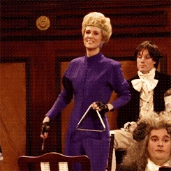 Am I the only one that gets a kick out of Triangle Sally from SNL? :)