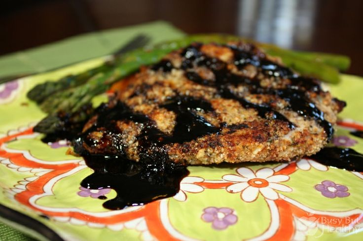 Almond Crusted Chicken with Balsamic Orange Drizzle: Chicken Recipes, Balsamic Orange, Almonds Crusts Chicken, Almonds Balsamic, Balsamic Chicken, Healthy Food, Healthy Recipes, Orange Drizzle, Almond Crusted Chicken