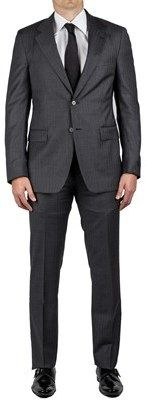 Prada Men's Pure Virgin Wool Two-button Suit Blue.