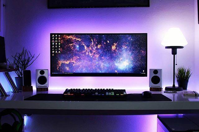 132 besten gaming setup bilder auf pinterest b ros for Gamer zimmer deko