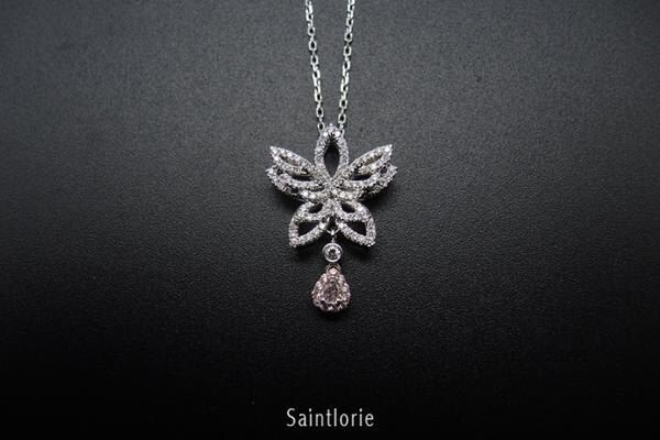 0.09 Carat Pink Diamond Necklace by Lustergems on Etsy https://www.etsy.com/listing/497007602/009-carat-pink-diamond-necklace