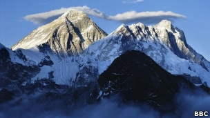 Everest en una mañana clara.
