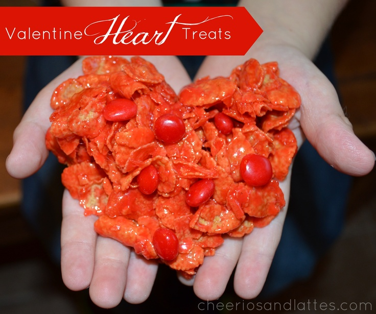 Valentine-Heart-Treats; a perfect treat to make with your kids! // cheeriosandlattes.com