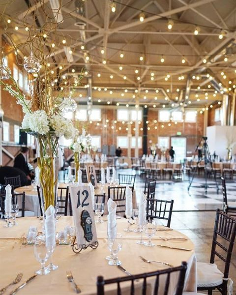 This Beautiful Wedding Featured Ranch Rentals Catering And Florist Created Centerpieces