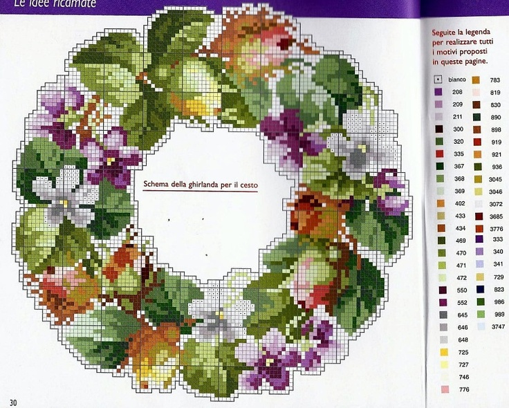 floral and foliage wreath # 2