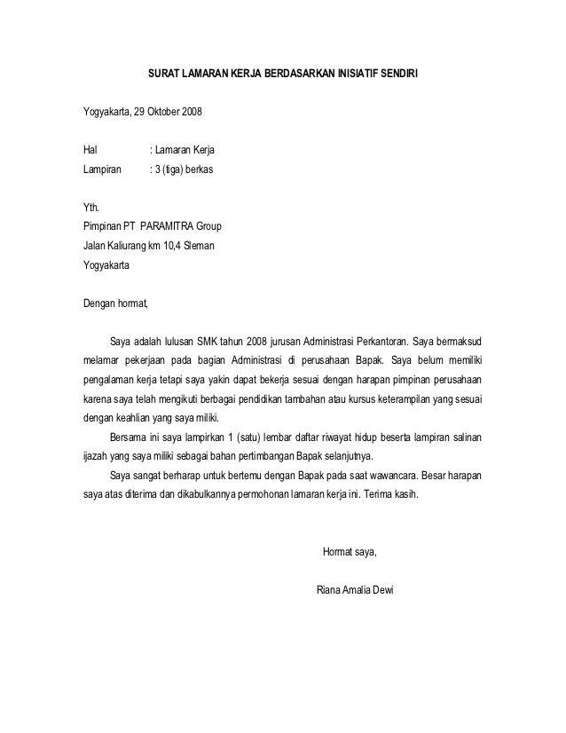 contoh surat lamaran kerja lulusan smk ben contoh