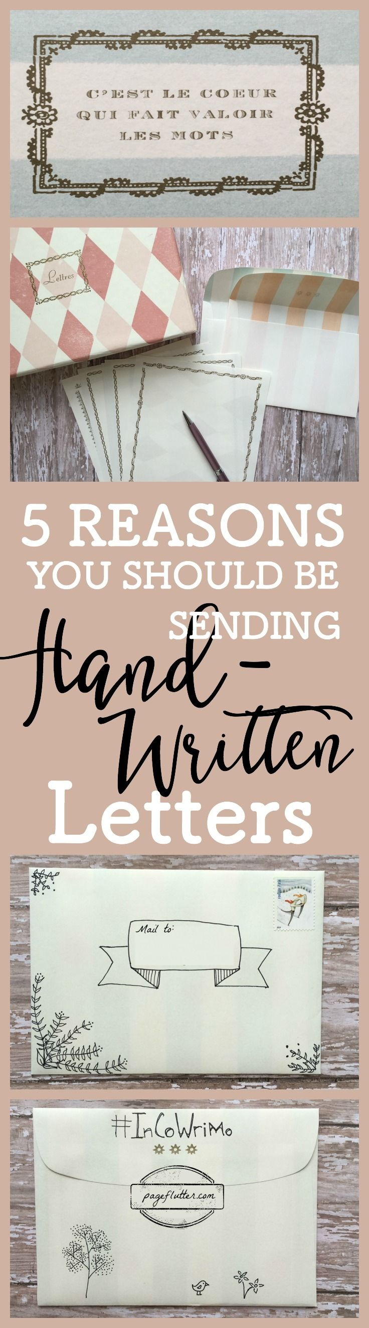 February is #InCoWriMo! In honor of International Correspondence Writing Month, here are 5 Reasons You Should Send Handwritten Letters.
