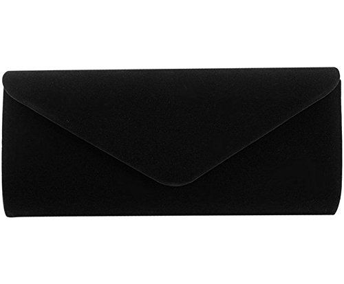 New Trending Shoulder Bags: La moriposa Women Elegant Velvet Evening Party Purse Handbag Envelope Clutch Shoulder Bag(Black). La moriposa Women Elegant Velvet Evening Party Purse Handbag Envelope Clutch Shoulder Bag(Black)   Special Offer: $16.99      255 Reviews Luxury velvet Material will make you charming, sexy and elegant.Size: 9.2 x 2 x 4 in(LxWxH), please note the size before order. 100% brand new and high...
