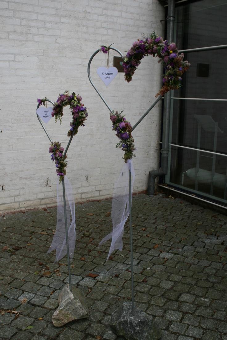 Hearts, Steel, Stones and beautiful roadside flowers