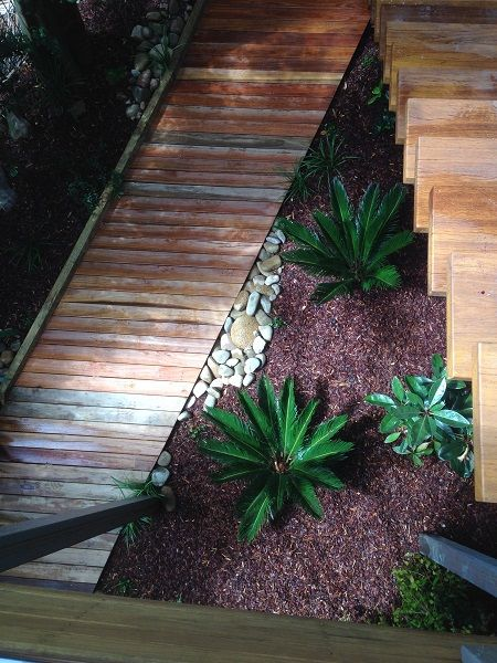 Tropical Courtyard Garden Design Northern Beaches Sydney Newport on the Northern Beaches Sydney – Tropical Style Garden Design for a small courtyard garden, incorporating a timber decking boardwalk and dry river bed. Client Brief – Landscaping Outline Create a boardwalk … Continue reading →