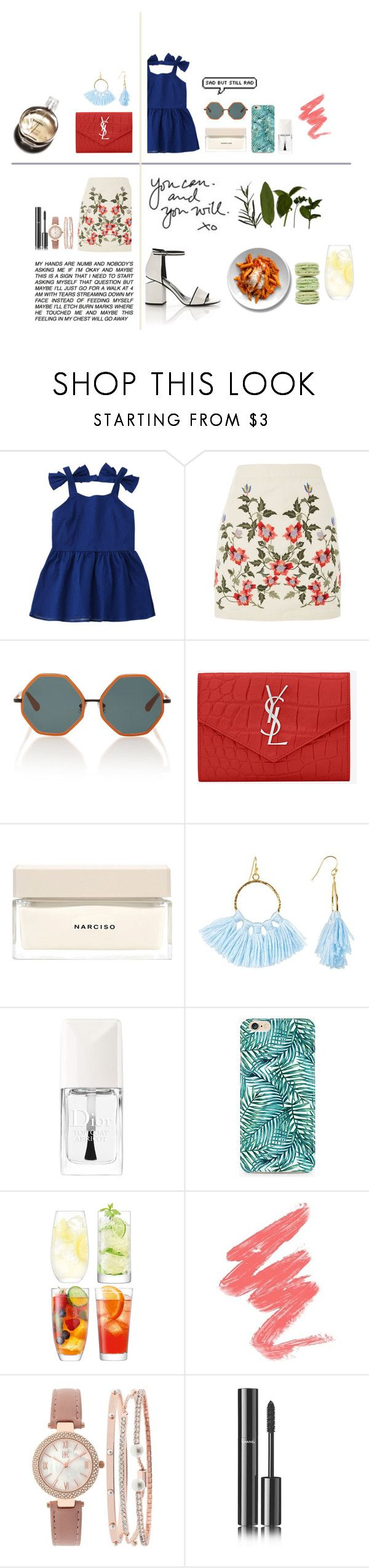 """""""Untitled #389"""" by soojinchoi ❤ liked on Polyvore featuring Topshop, Rosie Assoulin, Yves Saint Laurent, Narciso Rodriguez, Taolei, Chanel, Christian Dior, LSA International, INC International Concepts and Alexander Wang"""