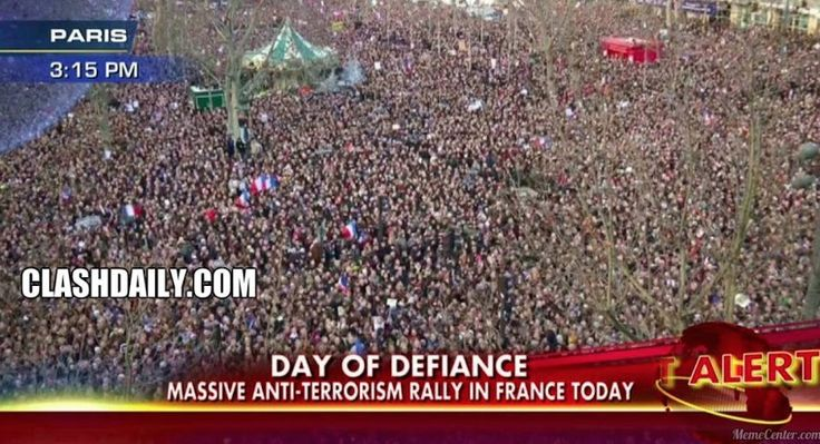 Massive Rally AGAINST Islam in France But You'd NEVER Know It If You Watch CNN!!!!