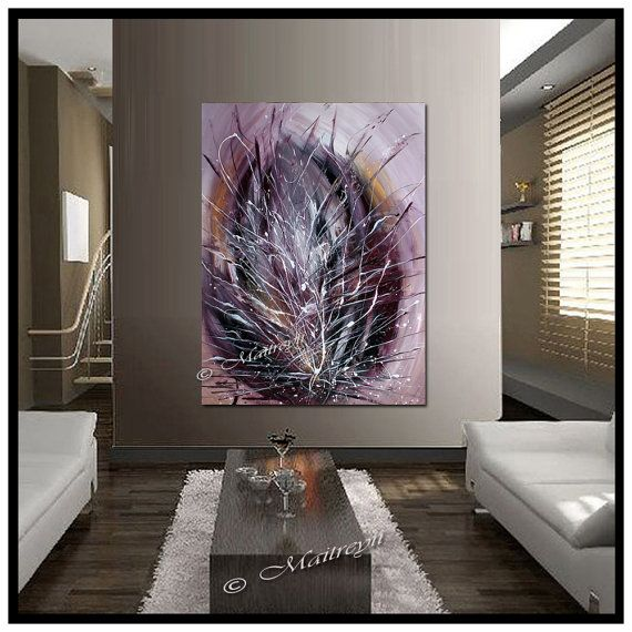 ORIGINAL ARTWORK Burgundy painting abstract art Modern Artwork Textured Palette Knife Oversize canva