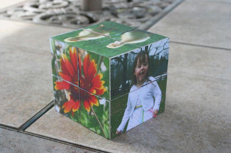 make your own magic folding photo cube