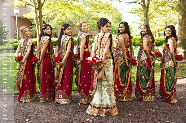 Bridesmaids...Indian wedding, American tradition