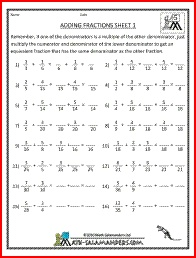 Worksheets Math Worksheets For 5th Grade Fractions 1000 images about 5th grade math on pinterest adding fractions 1 fraction worksheets