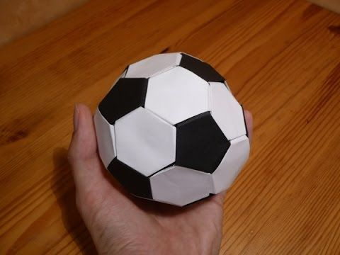 How To: Origami Soccer Ball Size 2 (Black-White) - YouTube